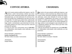 CONVOCATORIA | CHAMADA