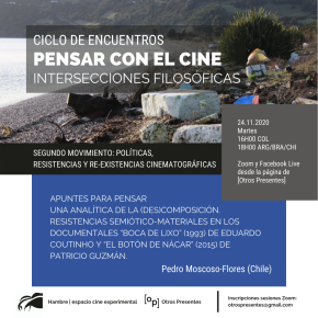 Pensar con el cine | Políticas, resistencias y re-existencias cinematográficas | PedroMoscoso-Flores
